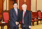 Tổng Bí thư, Chủ tịch nước chúc mừng tân Tổng Bí thư Lào
