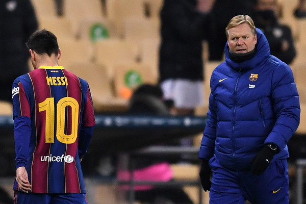 Hụt Siêu Cúp, Koeman nổi giận Barca