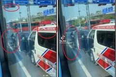 """Tranh luận nảy lửa xe Mercedes """"không chịu"""" vượt đèn đỏ, chặn xe cứu thương"""