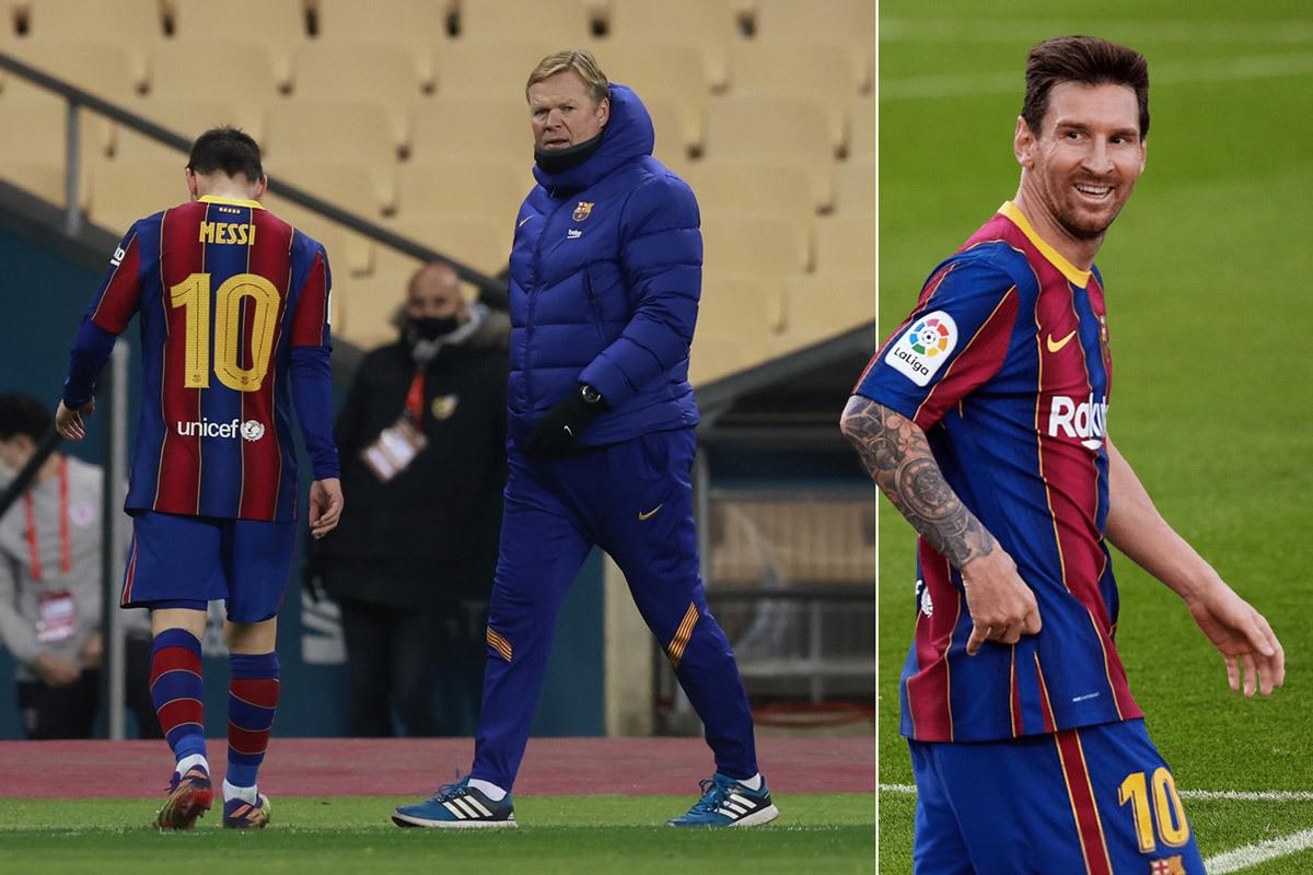 Messi bất mãn Koeman, muốn Barca sa thải ngay