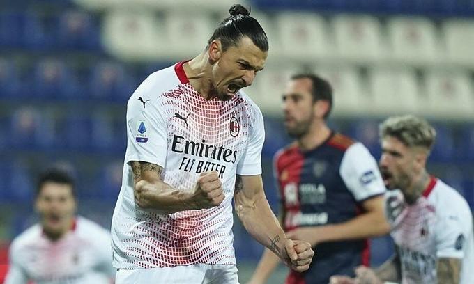 'Ông già' Ibrahimovic chói sáng, Milan gia cố ngôi đầu
