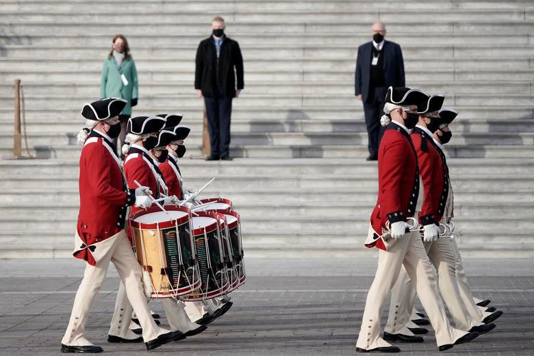 Hình ảnh buổi tổng duyệt lễ nhậm chức của ông Joe Biden