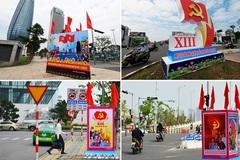 Đường phố Đà Nẵng rực rỡ cờ hoa chào mừng Đại hội Đảng