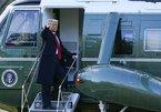 Hình ảnh Tổng thống Donald Trump rời Nhà Trắng