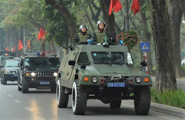 Security forces deployed in capital to protect 13th National Party Congress