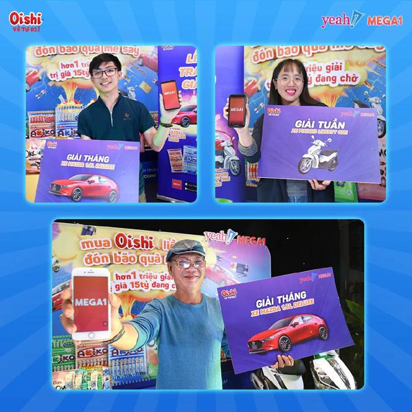 Triệu khách hàng nhận thưởng từ Mega1 và Oishi