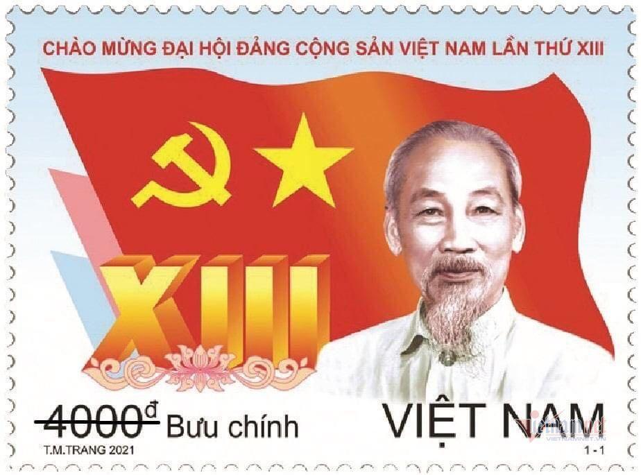 Phát hành đặc biệt bộ tem chào mừng Đại hội Đảng XIII