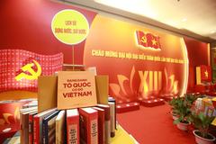 Triển lãm sách chào mừng Đại hội Đảng XIII