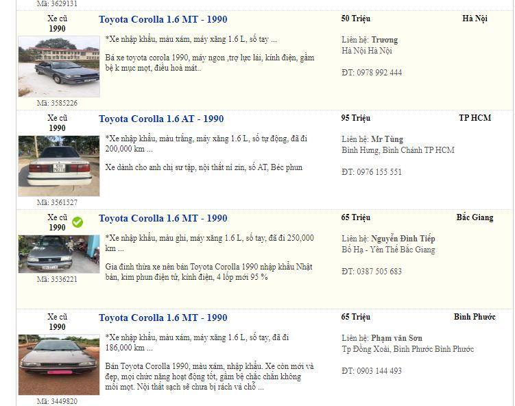 Ô tô cỏ giá 30 triệu đồng, có nên mua chơi Tết?