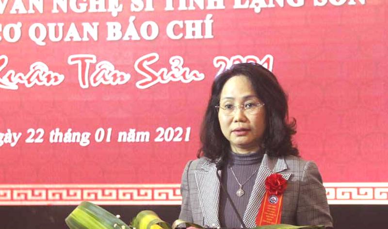 Tỉnh Lạng Sơn gặp gỡ trí thức, văn nghệ sĩ, người làm báo Xuân Tân Sửu 2021