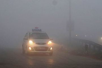 Thig fog affects travel on national highway