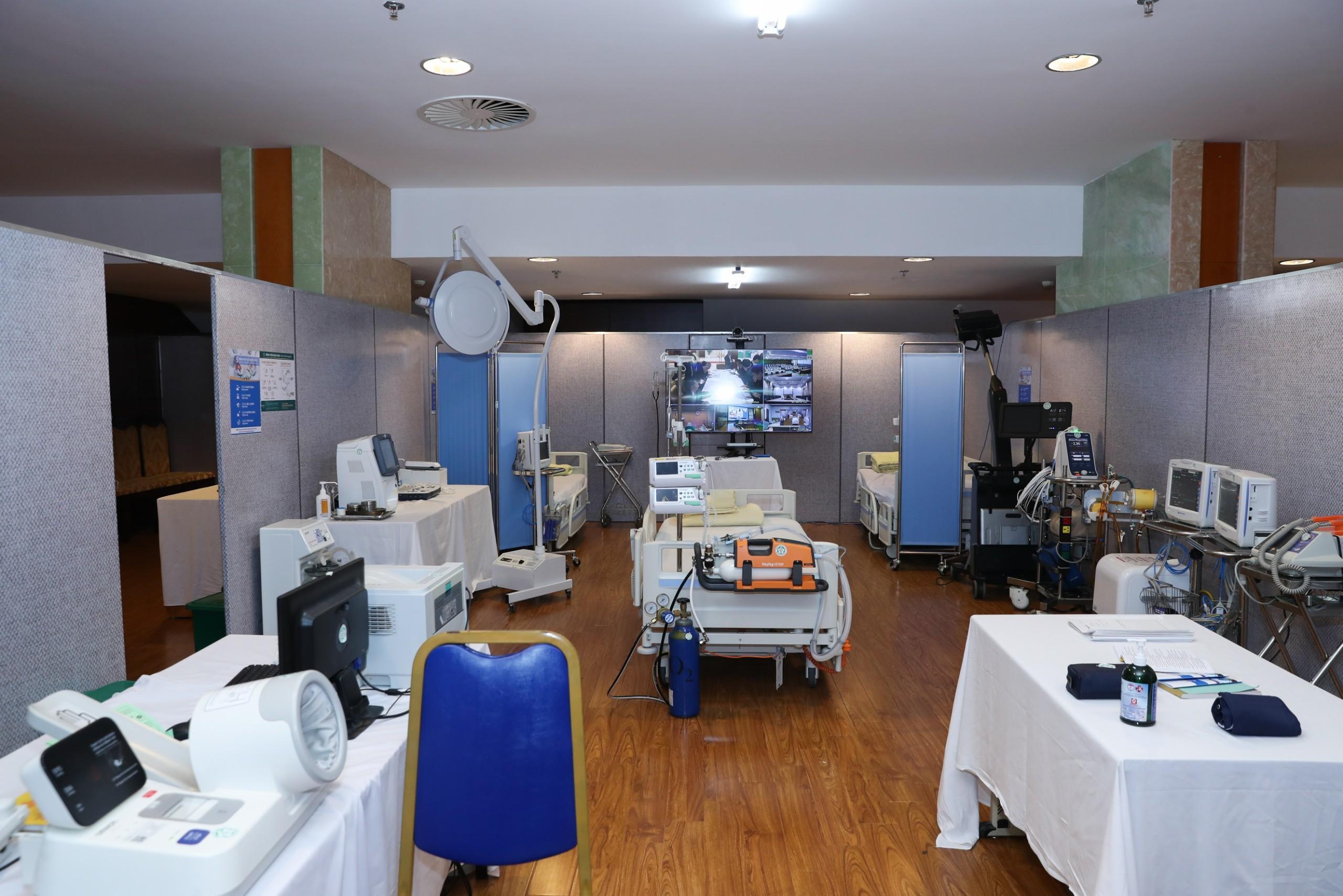 Phòng y tế phục vụ đại biểu dự Đại hội Đảng lần thứ XIII