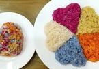 Xoi Ngu Sac (five-coloured steamed glutinous rice)