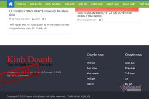 Lật tẩy trang tin giả danh chuyên mục của báo điện tử VnExpress