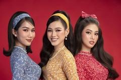 Hoa hậu Đỗ Hà, á hậu Phương Anh, Ngọc Thảo diện áo dài cách tân
