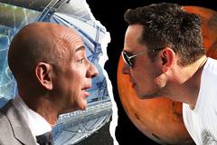 Elon Musk và Jeff Bezos 'khẩu chiến' vì một vị trí trên bầu trời