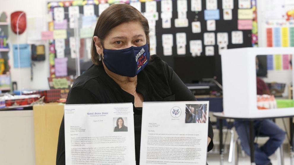 Giáo viên nhận được thư phản hồi từ Tổng thống Joe Biden
