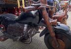 Video: Mô hình xe Harley Davidson bằng gỗ sao nặng gần 1 tấn ở TP.HCM