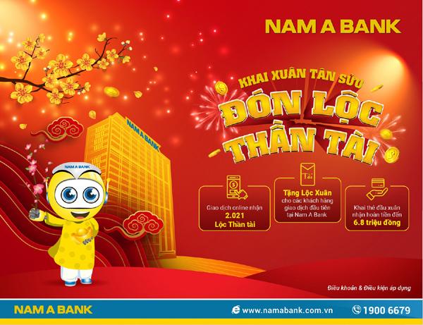 Nam A Bank tặng lộc Xuân cho khách hàng giao dịch đầu năm