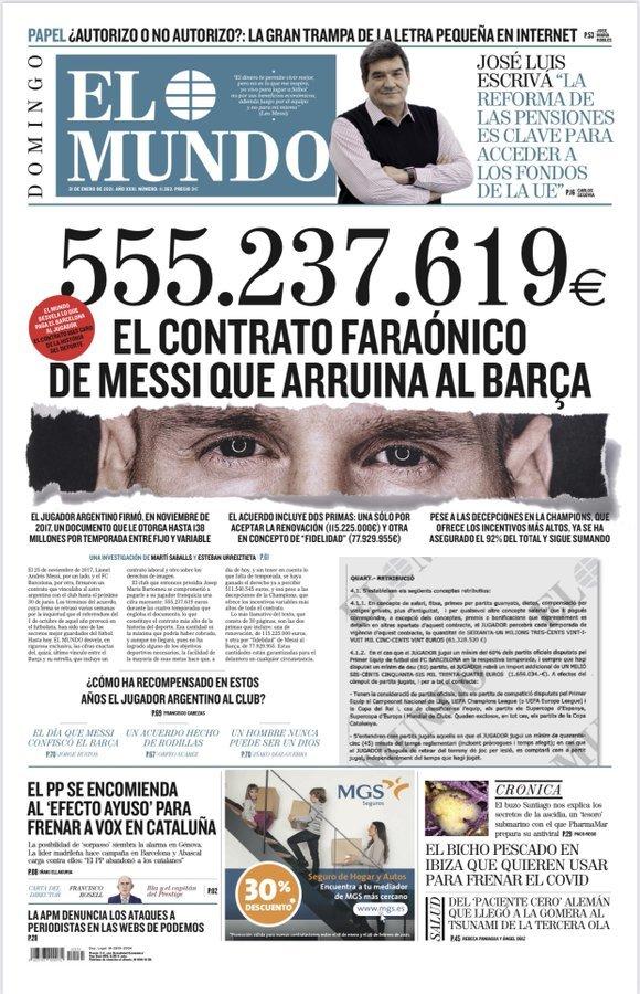 Lộ hợp đồng siêu khủng của Messi với Barca