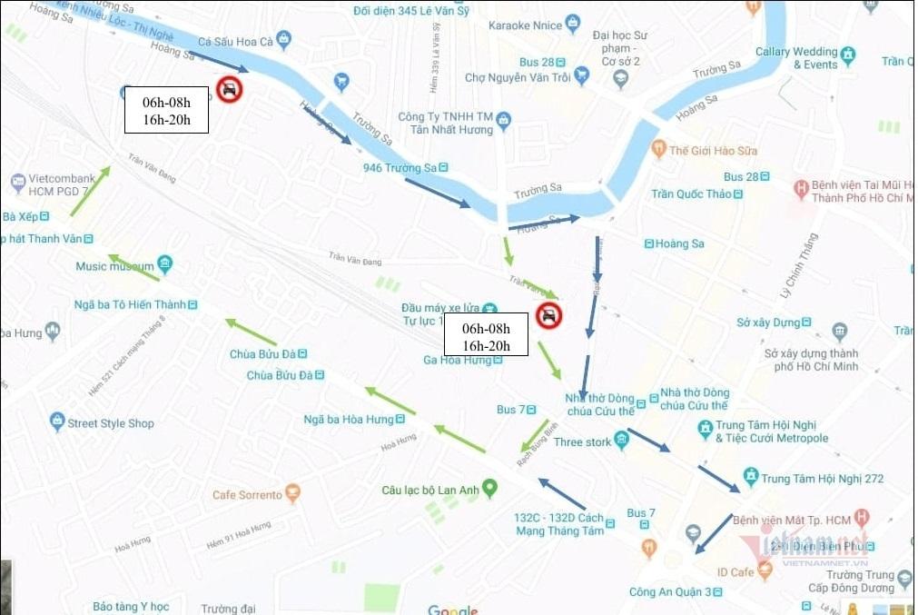 Cấm xe đường trung tâm Sài Gòn phục vụ chạy tàu Tết Tân Sửu 2021