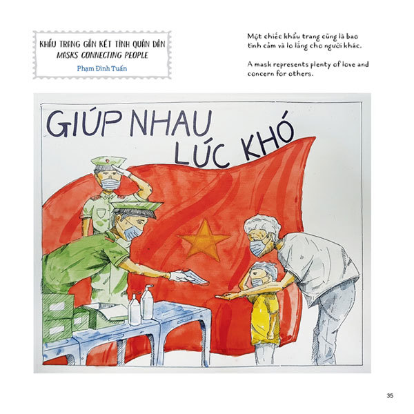 Drawing book presents message on understanding and tolerance in fighting COVID-19