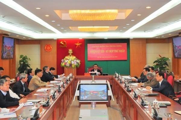 Ủy ban Kiểm tra Trung ương họp kỳ đầu tiên bầu Phó Chủ nhiệm