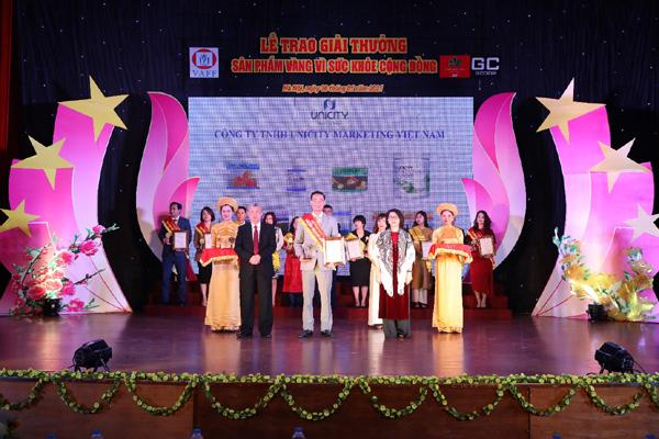 Unicity nhận giải Sản phẩm vàng vì sức khỏe cộng đồng