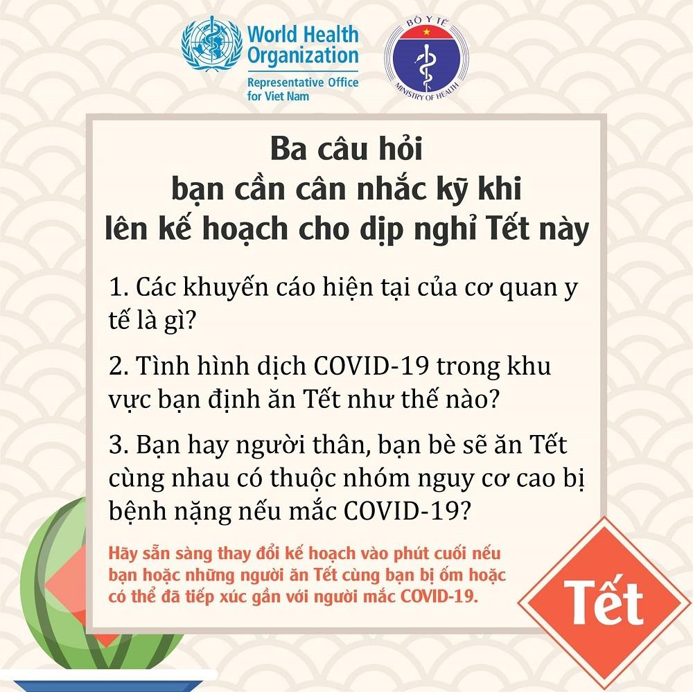 Khuyến cáo mới nhất của Bộ Y tế để đón Tết an toàn trong đại dịch Covid-19
