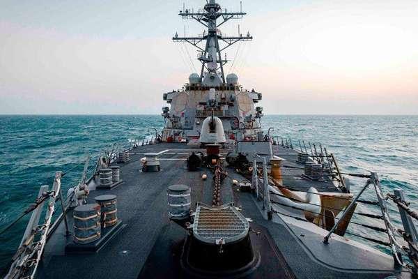 Lần đầu dưới thời ông Biden, Mỹ đưa tàu chiến qua eo biển Đài Loan