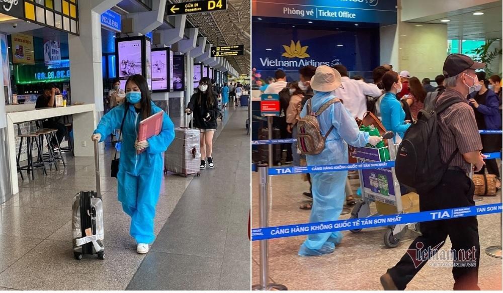 Cảnh hiếm có ở bến xe, sân bay tại TP.HCM ngày cận Tết