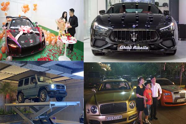 Loạt đại gia Việt tậu siêu xe hiếm tặng vợ
