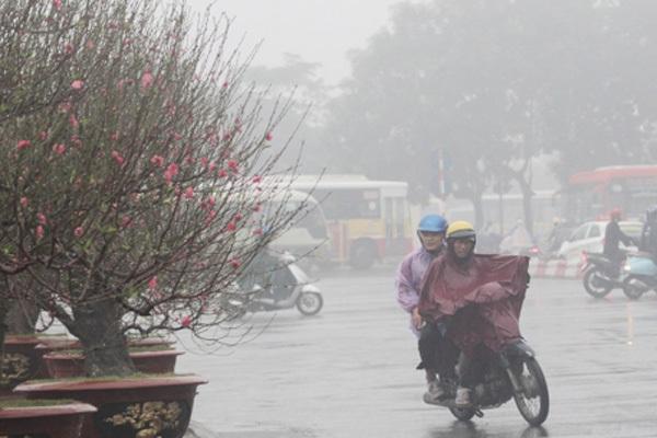 Miền Bắc có nơi mưa rất to vào 27-28 Tết