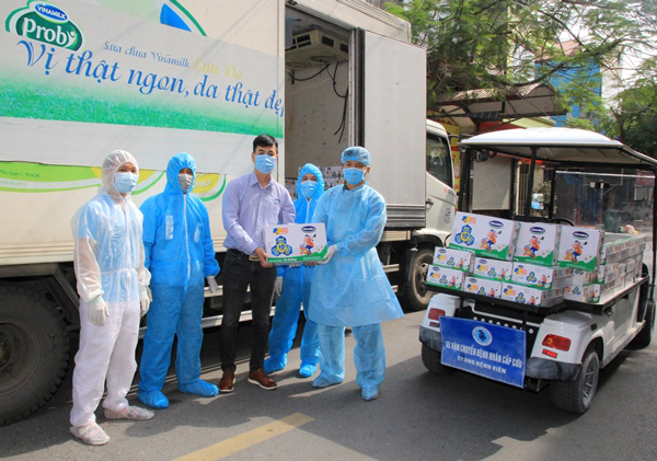 45.000 hộp sữaVinamilk hỗ trợ trẻ em cách ly tại Hà Nội,Hải Dương, Hải Phòng