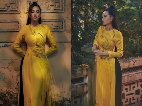 Mai Phương Thúy biến hóa trong áo dài cách tân