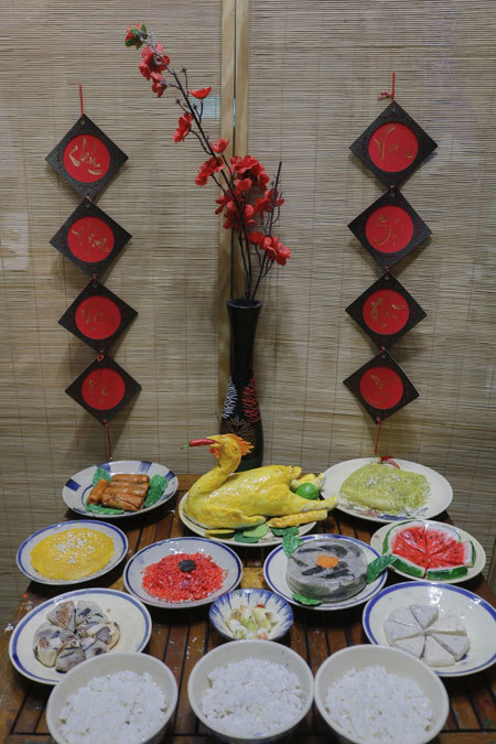 Unique Tet trays,handicraft,Tet,lunar new year