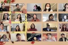 Du học sinh hát 'Đi để trở về', gửi lời chúc Tết quê hương