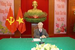 Tổng Bí thư, Chủ tịch nước điện đàm với Tổng Bí thư, Chủ tịch Trung Quốc