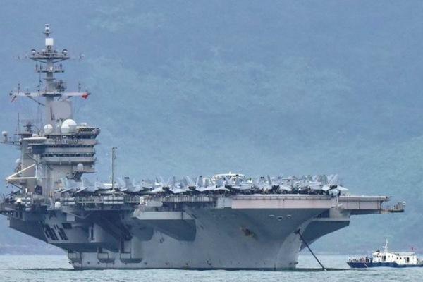 Hai nhóm tàu sân bay Mỹ tác chiến chung ở Biển Đông