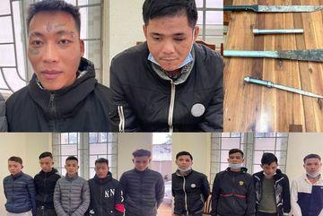 Bắt 11 đối tượng ở Thanh Hóa bịt mặt chặt phá đào, quất bán tết
