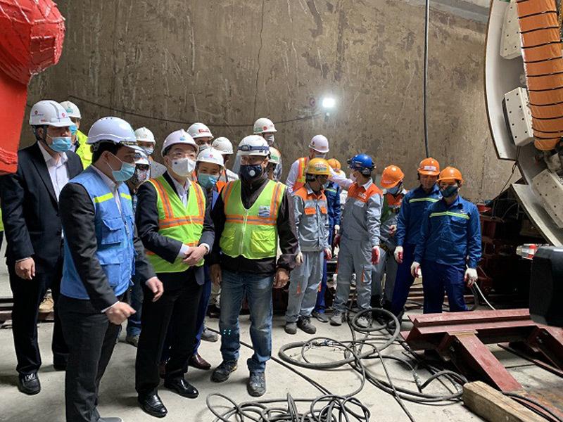 Chủ tịch Hà Nội thăm, chúc Tết công nhân công trường Đường sắt Nhổn - Ga Hà Nội