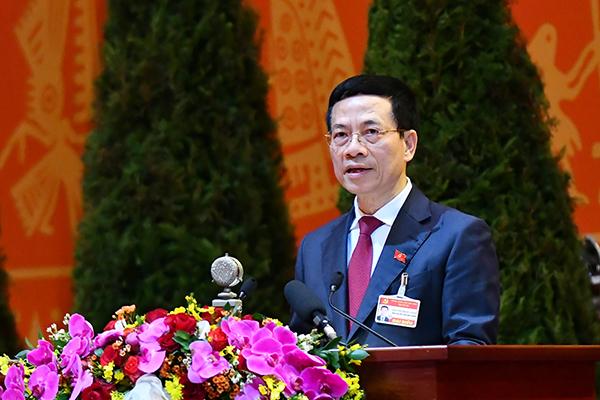 Toàn văn phát biểu của Bộ trưởng Nguyễn Mạnh Hùng tại ĐH 13 của Đảng: Chuyển đổi số và kinh tế số