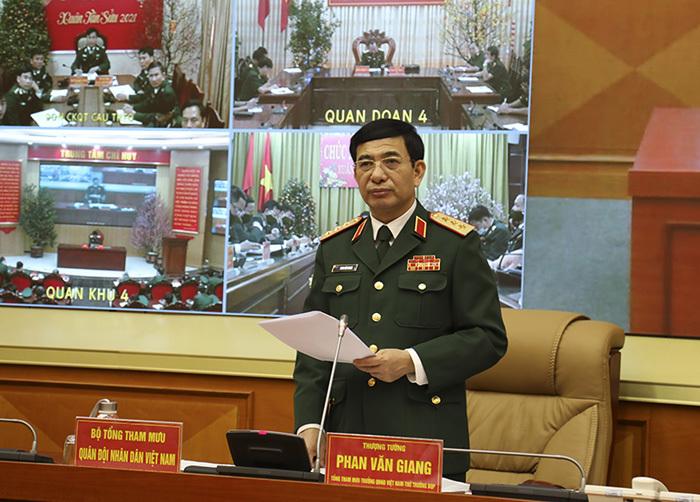Thượng tướng Phan Văn Giang chủ trì giao ban đầu Xuân toàn quân