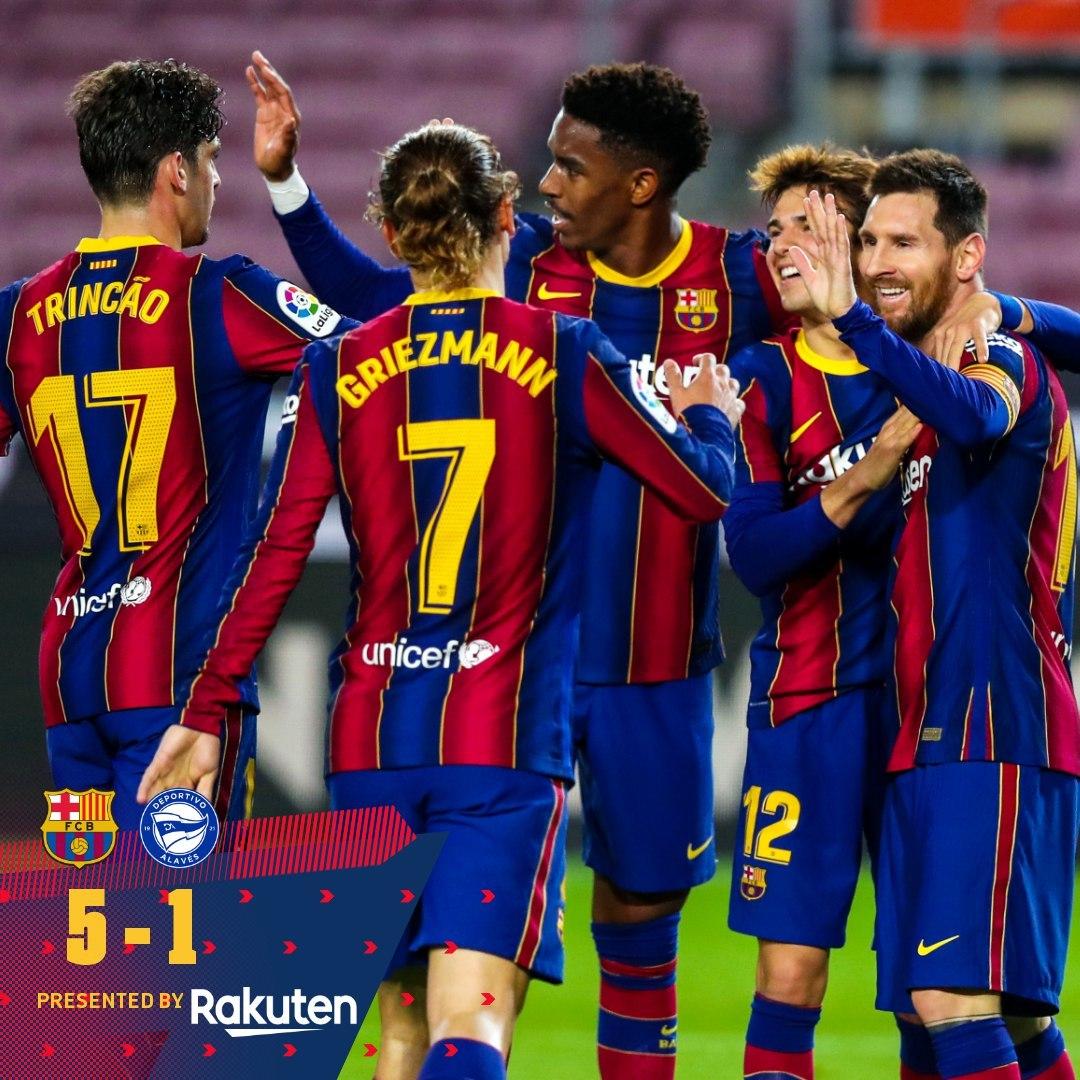 Song tấu Messi - Griezmann giúp Barca thắng '5 sao'