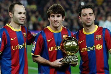 Messi cân bằng kỷ lục của Xavi