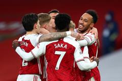 """Aubameyang """"nổ"""" hat-trick, Arsenal thắng tưng bừng"""