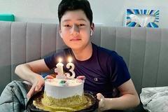 Con trai ca sĩ Quang Dũng cao 1,7 m ở tuổi 13