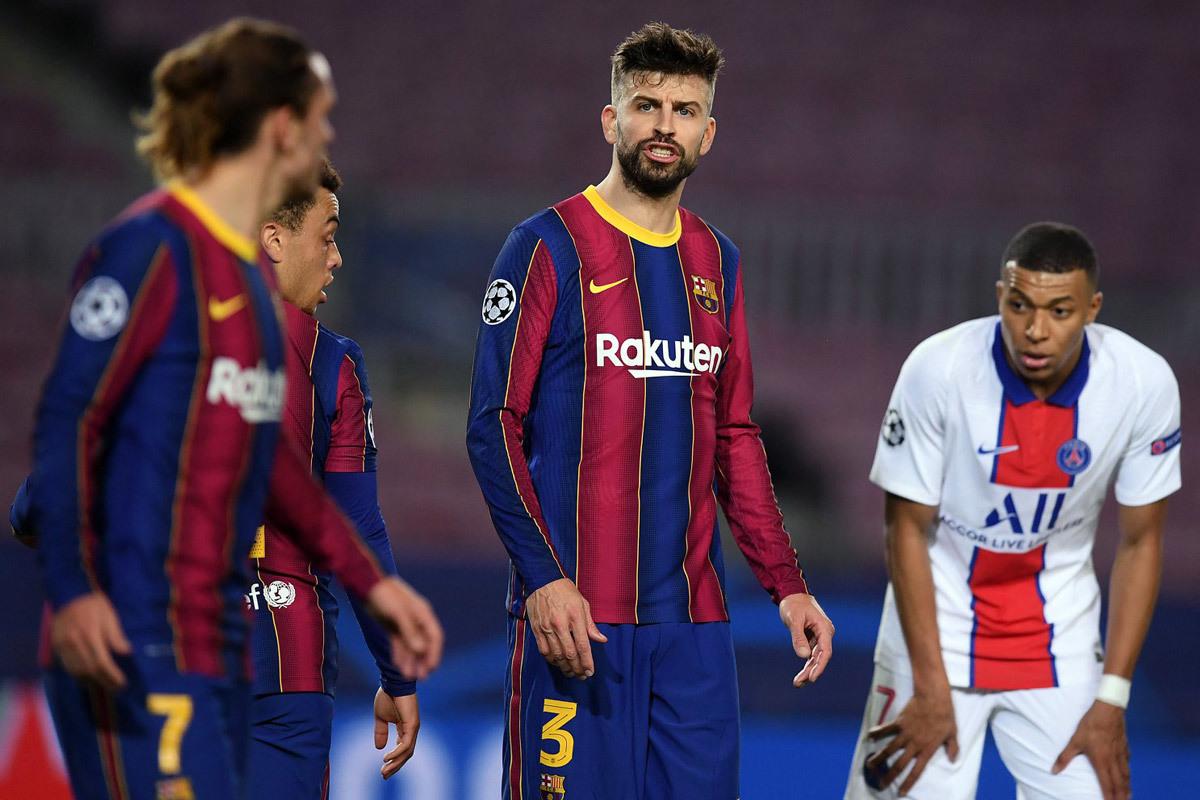 Barca thua thảm, Pique và Griezmann văng tục với nhau