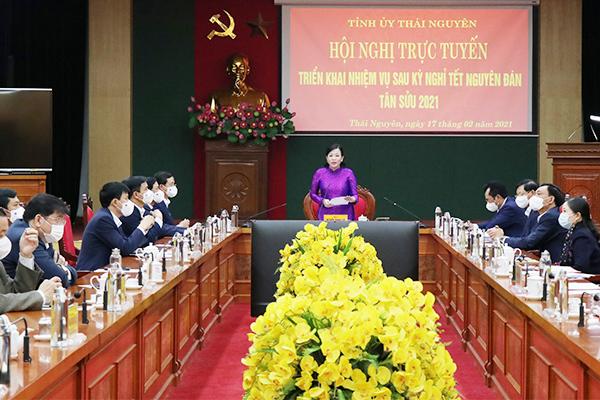 Thái Nguyên đẩy mạnh chuyển đổi số, họp trực tuyến phòng chống Covid-19