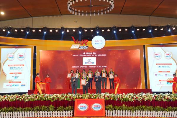 Dapharco 5 năm liền vào Top 10 công ty dược Việt Nam uy tín